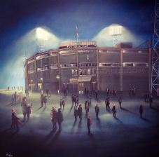 Those European Nights, Manchester Utd Old Trafford- 11'' x 11'' approx poster print